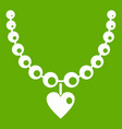 necklace icon green vector image vector image