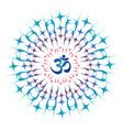 ohm mandala or sri chakra energy generator vector image vector image