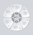 process chart abstract circle business options vector image vector image