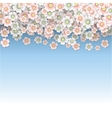 Rain of pink and white cherry blossoms vector image vector image