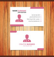 red and white business card vector image