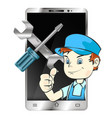 repair of smartphones and phones vector image vector image