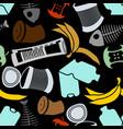 rubbish seamless pattern garbage texture trash vector image vector image