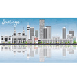 Santiago Chile Skyline with Gray Buildings vector image vector image