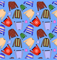 seamless pattern of jumper isolated on vector image vector image