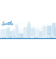 Seattle outline vector image vector image