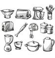 set kitchen appliance vector image