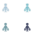 Set of paper stickers on white background man bags vector image vector image