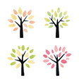 set watercolor trees vector image vector image
