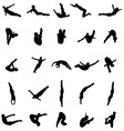 silhouettes jumping vector image vector image