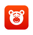 sleeping teddy bear icon digital red vector image vector image