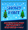 snowy christmas font vector image