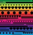 Stripes hearts and circle pattern vector image vector image