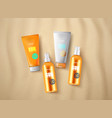 sun protection cosmetics vector image vector image