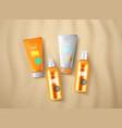 sun protection cosmetics vector image