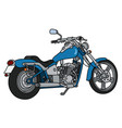 the blue heavy chopper vector image vector image