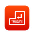 translate button icon digital red vector image vector image