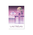 trip to las vegas travel poster template vector image vector image