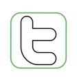 Twitter II vector image vector image