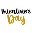 valentines day isolated poster hand drawn style vector image vector image