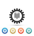 wheat and gear icon isolated on white background vector image