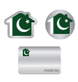 Home icon on the Pakistan flag vector image