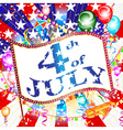 The fourth of July independence day vector image