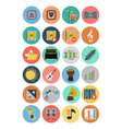 Multimedia Flat Icons 4 vector image