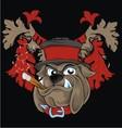 vintage bulldog head vector image