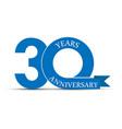30 years anniversary simple design logo