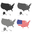 a set detailed accurate maps usa vector image vector image
