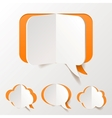 Abstract Orange Speech Bubble Set Cut of Paper vector image vector image
