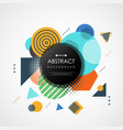 abstract trendy colorful geometric pattern cover vector image vector image