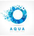 aqua o logo vector image vector image
