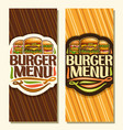 banners for burger menu vector image vector image