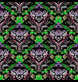 baroque damask seamless pattern greek decorative vector image vector image