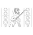 beautiful girl guitar player vector image vector image