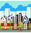 Big city in the summer vector image
