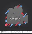 black badge cinema sticker vector image