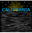 california summer beach background in retro style vector image vector image