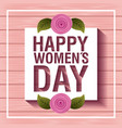 card happy womens day vector image