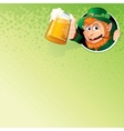 Cartoon Leprechaun with Mug of Ale Image vector image
