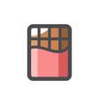 chocolate color bar icon cartoon vector image