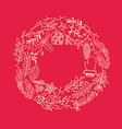christmas round frame design concept vector image vector image
