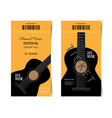 classic music festival ticket design template vector image
