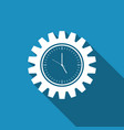clock gear icon time management symbol vector image
