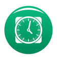 clock retro icon green vector image vector image