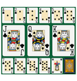 Clubs Suite Black Jack large figures vector image vector image