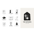 cooking baking and homemade food collection of vector image