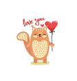 cute funny squirrel vector image vector image